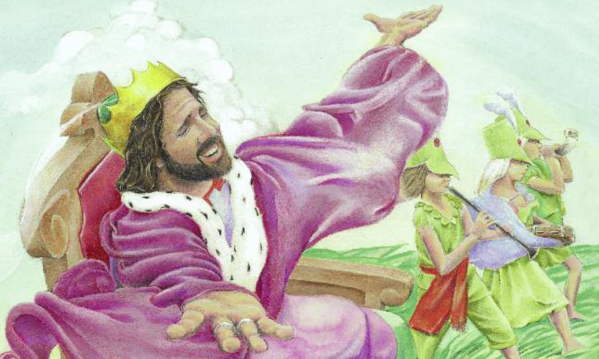 King of Spring Illustration